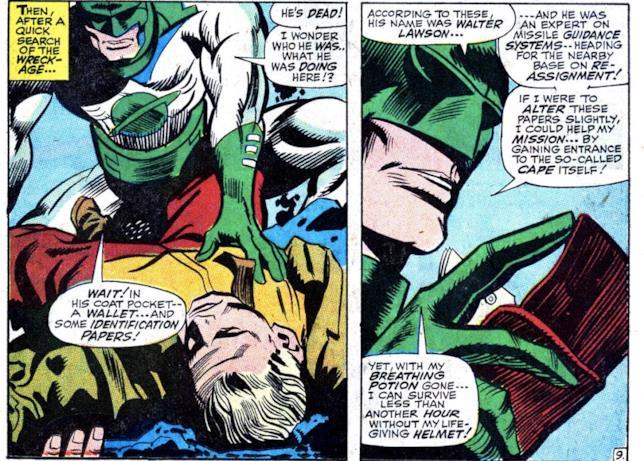 Mar-Vell prende l'identità di Walter Lawson nel fumetto Marvel Super-Heroes #13
