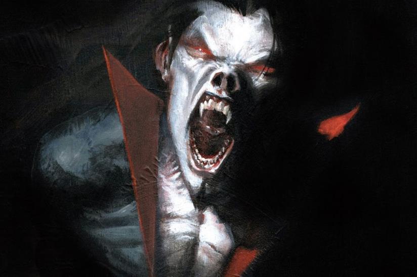 Un primo piano di Morbius nei fumetti Marvel Comics