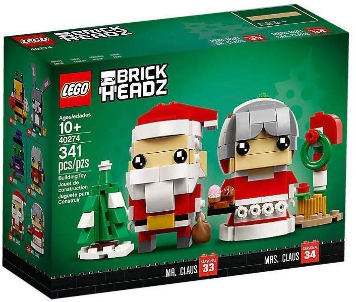 Babbo Natale e la Signora Natale nella collezione BockHeadz LEGO