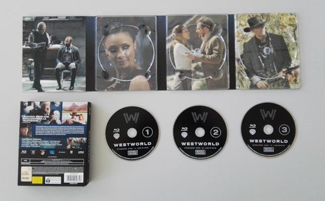 Il packaging e il contenuto del cofanetto Blu-ray della prima stagione di Westworld