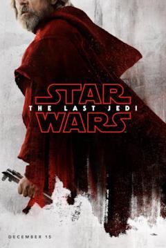 Luke Skywalker nel character poster di Star Wars - Gli ultimi Jedi
