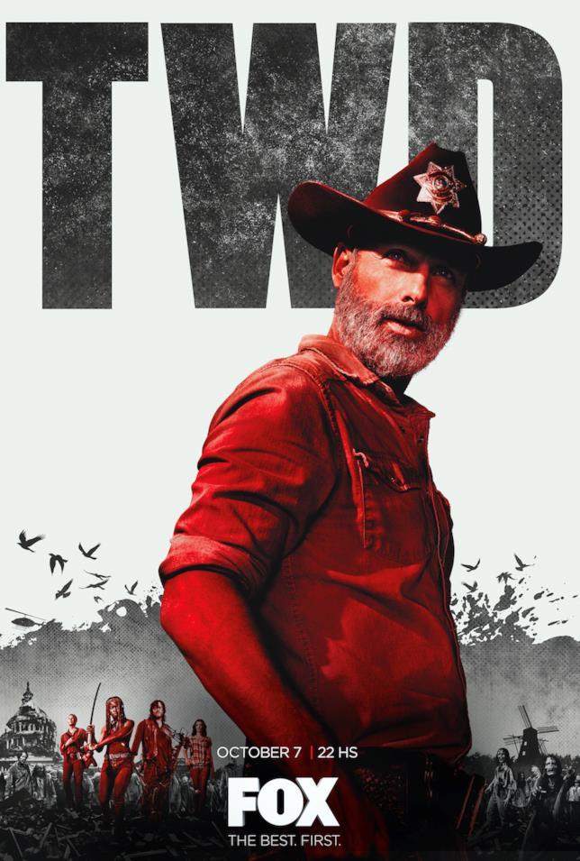 Il poster di The Walking Dead 9 con Rick
