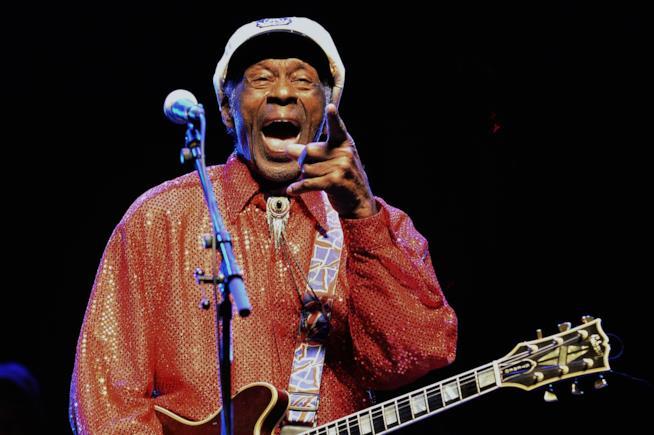 Primo piano di Chuck Berry