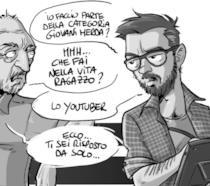 Vignetta tratta dal libro di Amleto de Silva  Dizionario Illustrato dei #giovanimerda