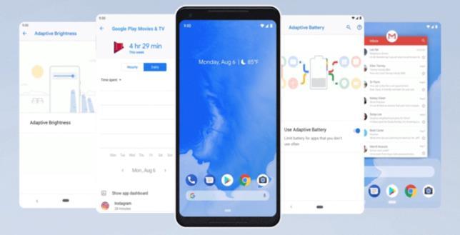 Foto promozionali mostrano le nuove features di android 9.0, per un'esperienza sempre più integrata.
