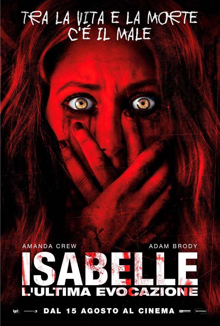 La locandina dell'horror Isabelle – L'ultima evocazione, con Adam Brody