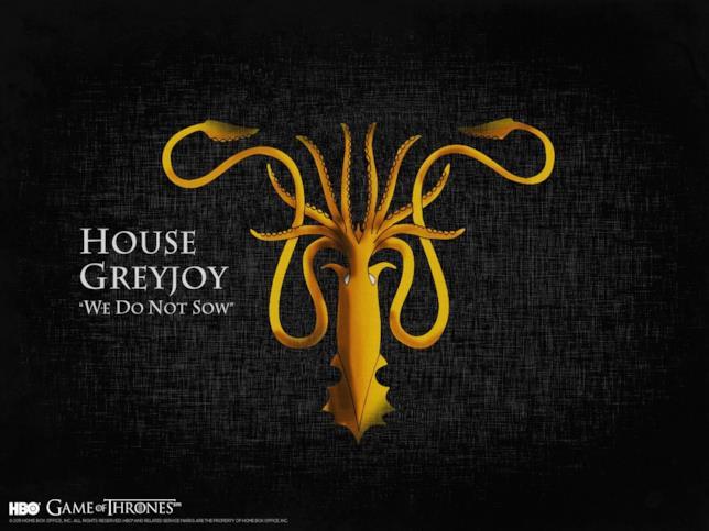 Il motto e lo stemma di Casa Greyjoy