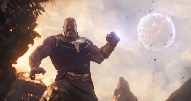 Thanos Avengers e il guanto dell'infinito