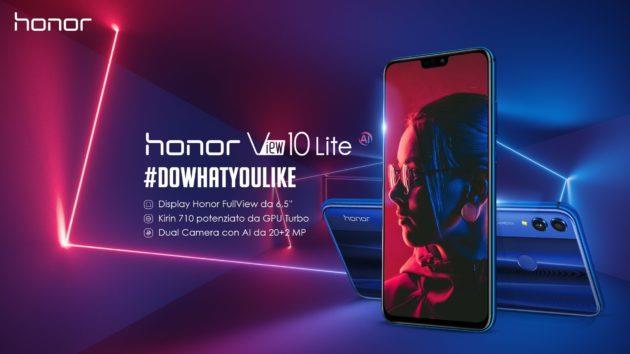 Immagine riassuntiva delle caratteristiche di Honor View 10 Lite