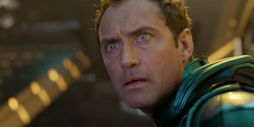 Jude Law in una scena di Captain Marvel