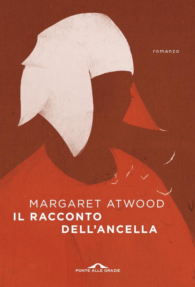 La copertina rossa con un'ancella