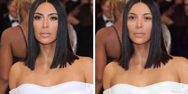 La famosa Kardashian senza il suo sguardo intenso grazie a MakeApp