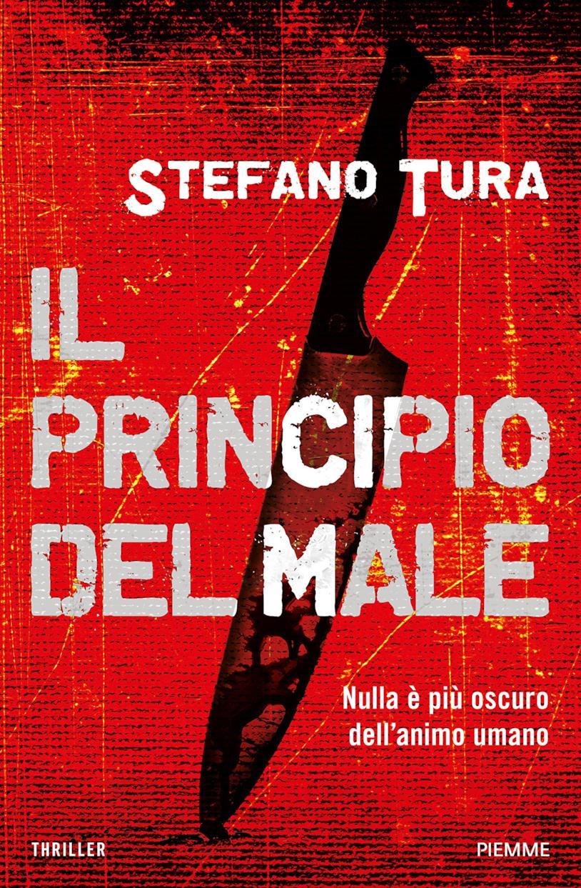 La copertina de Il principio del male con un coltello in primo piano