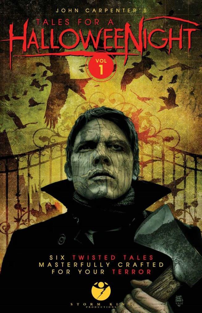 Tales for a Halloween Night, un uomo con l'ascia in mano in copertina