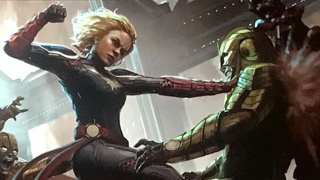 Captain Marvel vs Skrull e Kree
