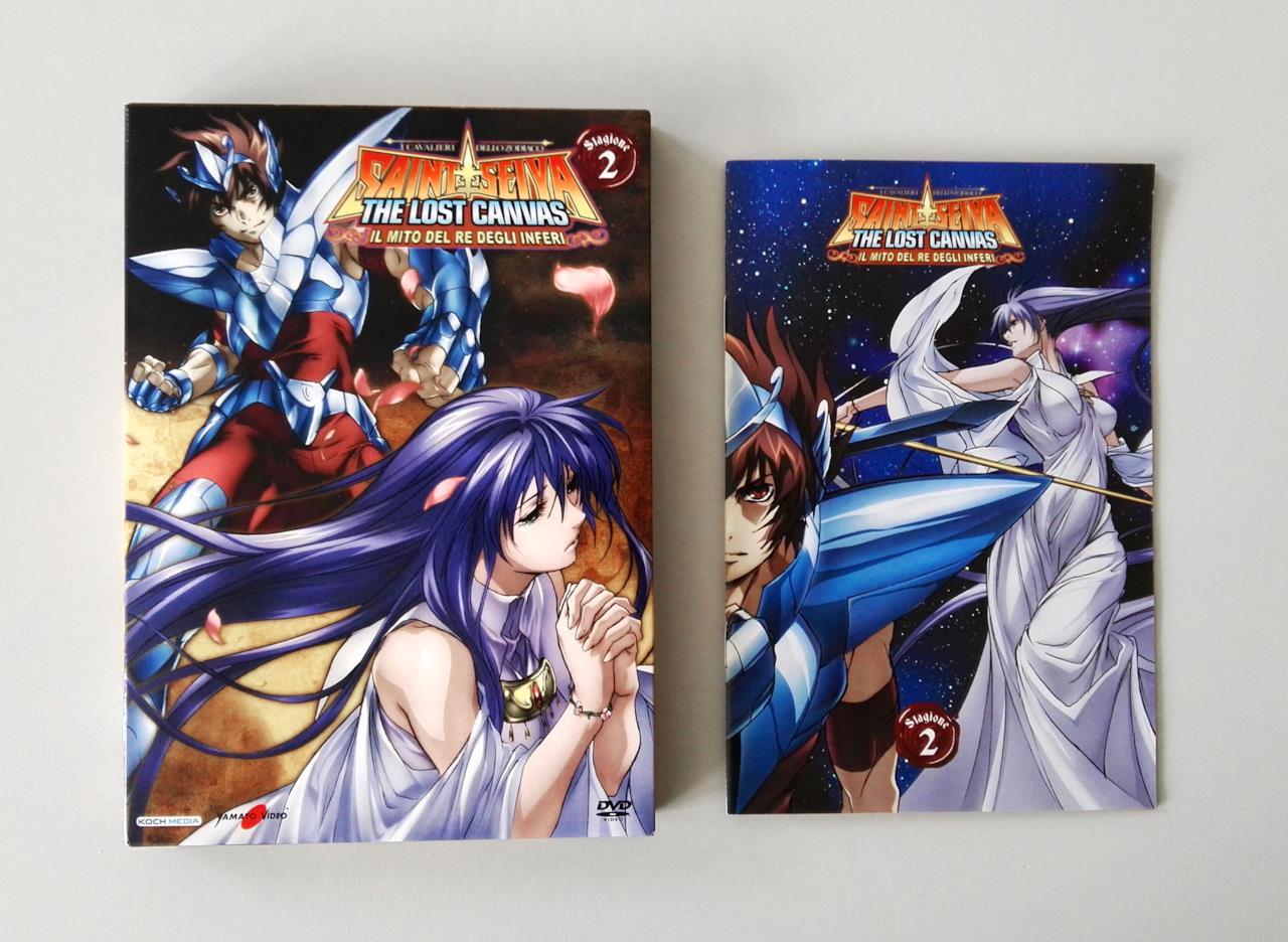 Custodia del DVD e booklet di Saint Seiya: The Lost Canvas 2