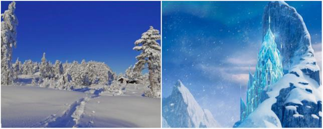 Arendelle in Norvegia ha ispirato Frozen