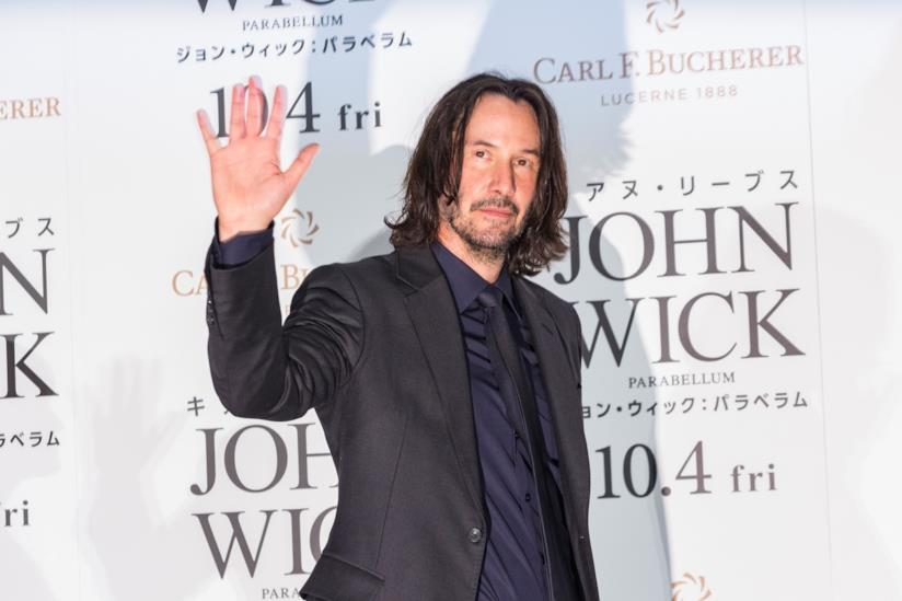 Keanu Reeves all'anteprima di John Wick: Parabellum