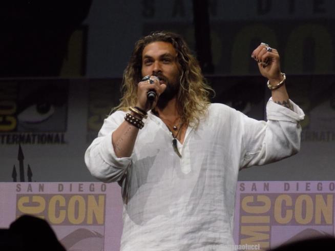 Jason Momoa (Aquaman) al San Diego Comic-Con 2017