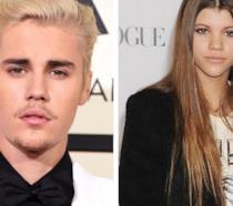 Primo piano di Justin Bieber e Sofia Richie