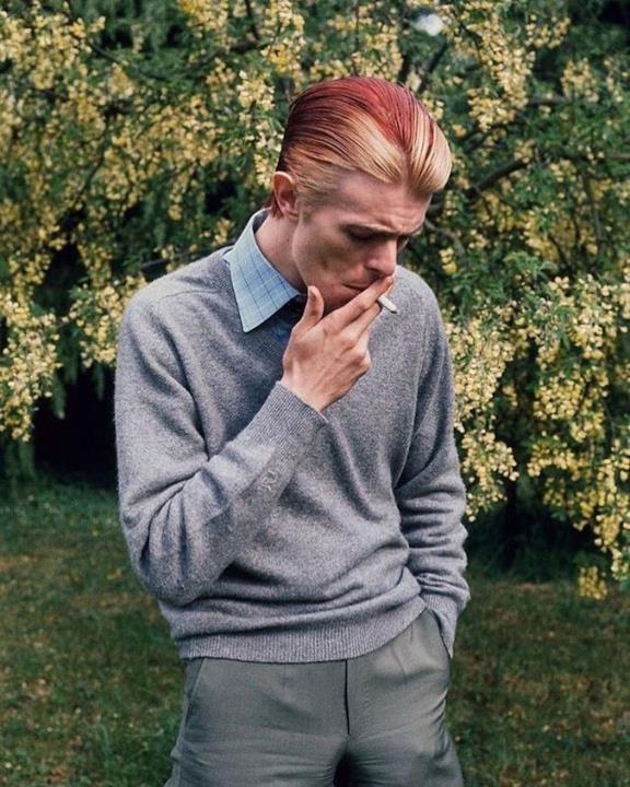 Uno scatto di David Bowie nel 1970