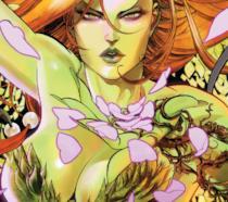 Un primo piano della sensuale e letale Poison Ivy di DC Comics