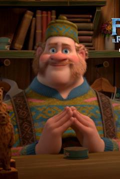 Oaken nel character banner di Frozen