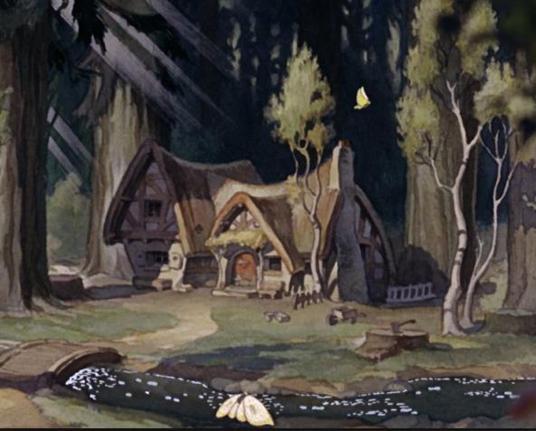 La casa di Biancaneve nel film d'animazione Disney