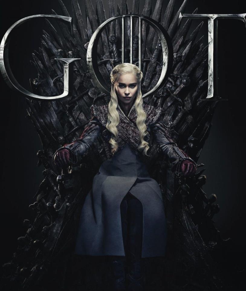 Emilia Clarke in un poster promozionale di Game of Thrones 8