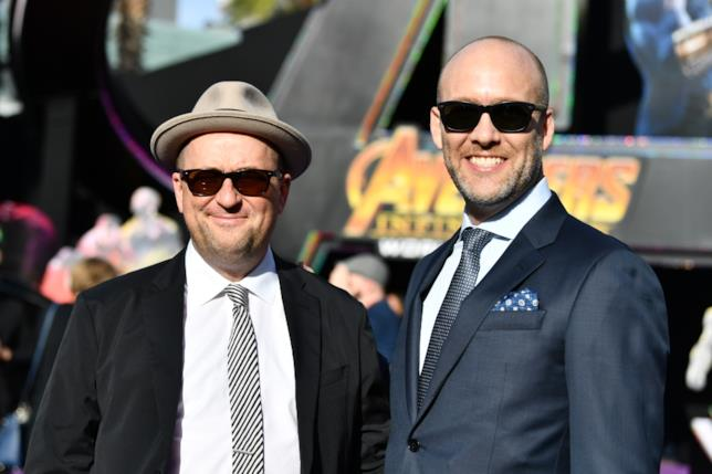 Stephen McFeely e Christopher Markus alla prima di Avengers: Infinity War