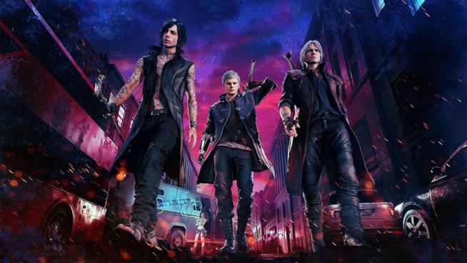 I protagonisti di Devil May Cry 5, V, Nero e Dante