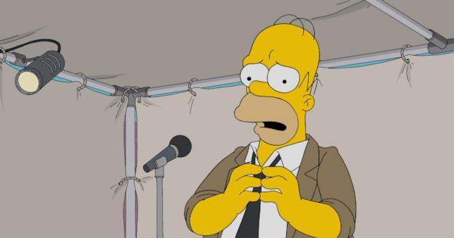 Homes Simpson in una puntata de I Simpson