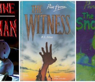 Tre libri della serie Point Horror di R. L. Stine