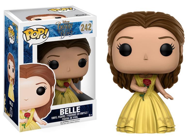 Funko Pop! Vinyl di Belle con la protagonista nell'abito giallo e la rosa incantata
