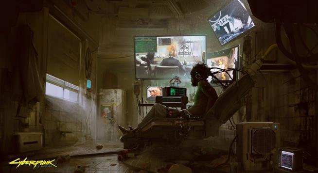 Una splendida concept art di Cyberpunk 2077
