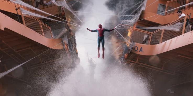 Le ragnatele di Spider-Man in Spider-Man: Homecoming