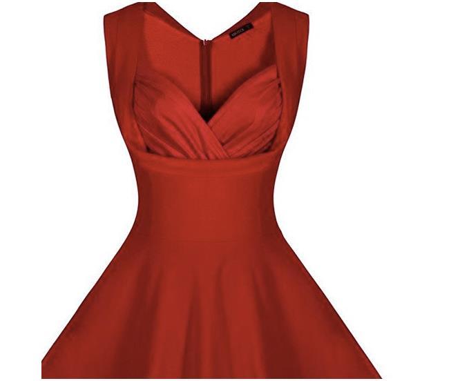 Un vestito rosso simile a quello di Lou di Io Prima di Te