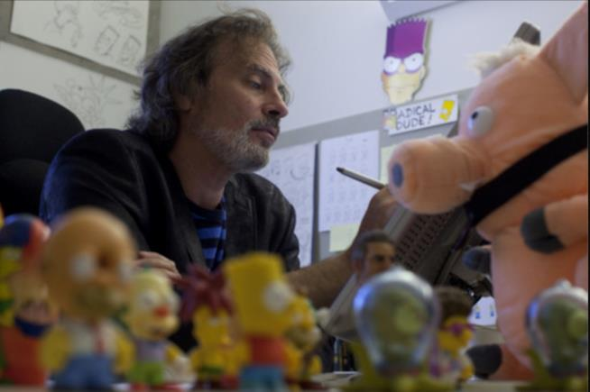 In foto David Silverman, regista dei Simpson