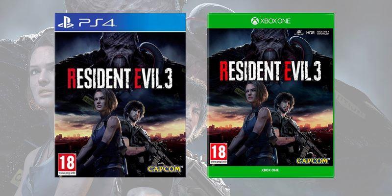 La copertina di Resident Evil 3 su console