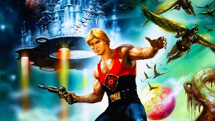 Un primo piano di Sam Jones nel poster di Flash Gordon