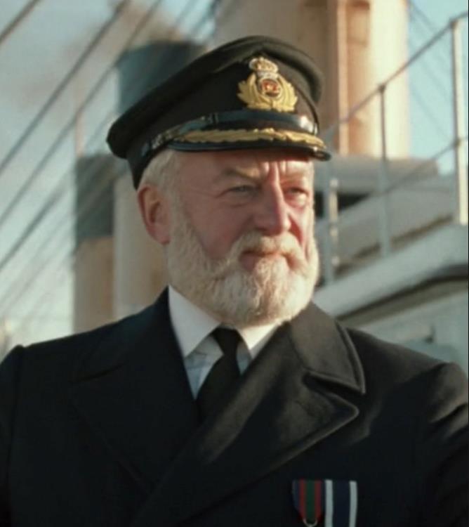 Il comandante Edward Smith nel film Titanic