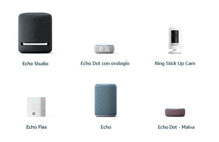 I nuovi prodotti della linea Echo di Amazon (settembre 2019)