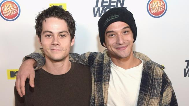 Dylan O'Brien e Tyler Posey a un evento promozionale per Teen Wolf