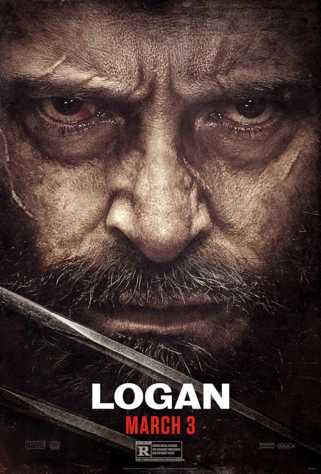Wolverine in un primissimo piano nel poster di Logan