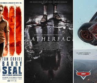 I poster dei film Barry Seal - Una Storia Americana, Leatherface, Cars 3