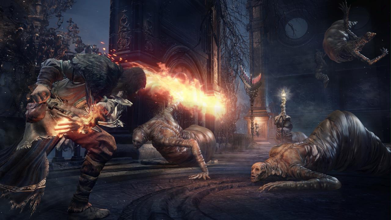 Una scena di combattimento in Dark Souls III