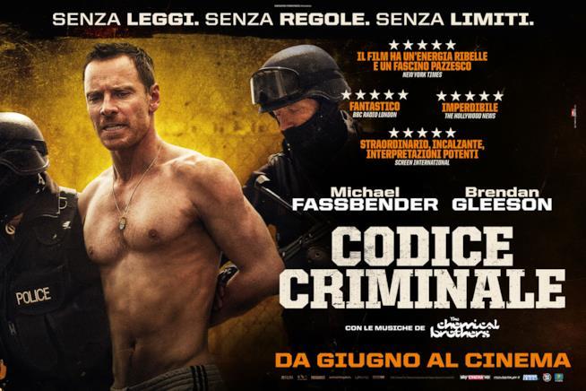 Michael Fassbender nel poster italiano del film Codice Criminale