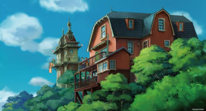 Concept art: all'interno di Studio Ghibli Park verranno riprodotte le architetture in stile europeo disegnate da Miyazaki
