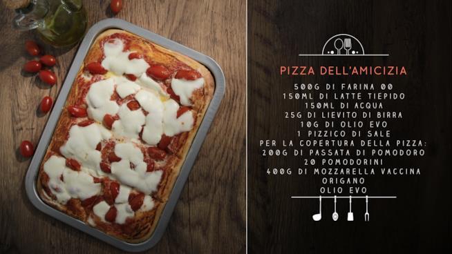 La ricetta della pizza dell'amicizia