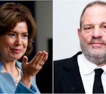 Collage tra Harvey Weinstein e Maria Contreras-Sweet